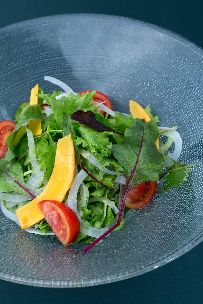 「産直無農薬サラダ」の写真