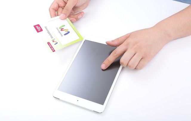 ウェブマネーとiPad miniの写真