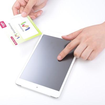 「ウェブマネーとiPad mini」の写真素材