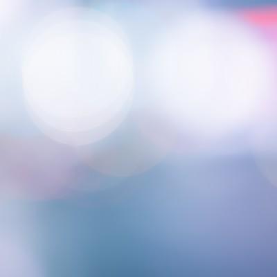 「繁華街のネオン(ボケ)」の写真素材