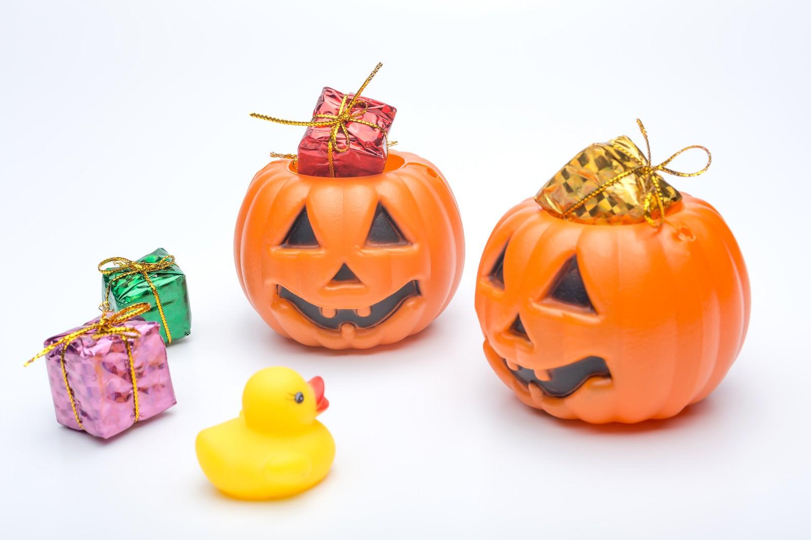 「あひるちゃんとかぼちゃおばけ」の写真