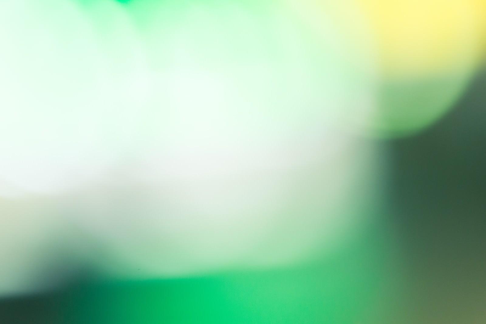 「緑色のボケた光」の写真