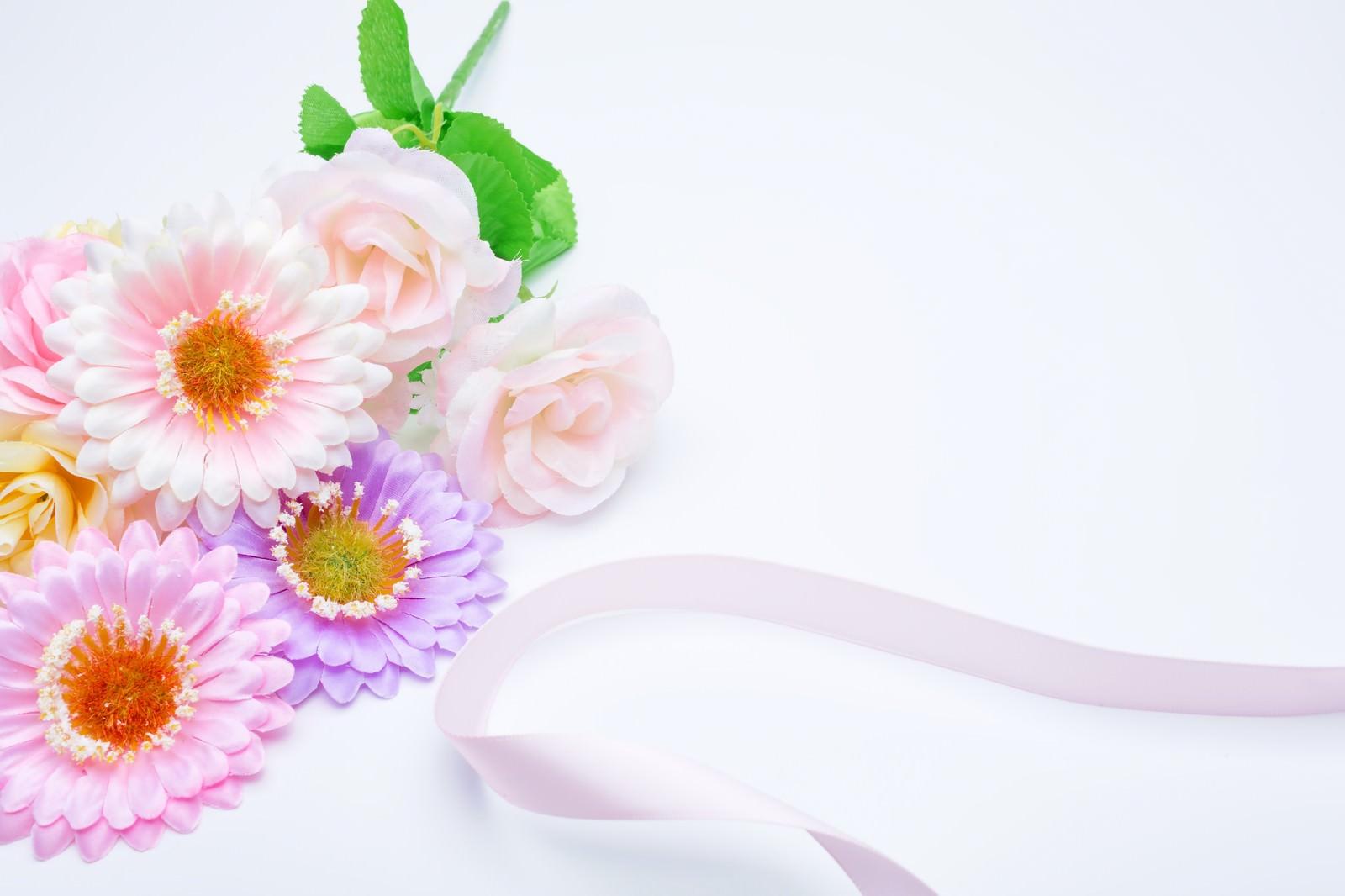 「お花とリボン」の写真