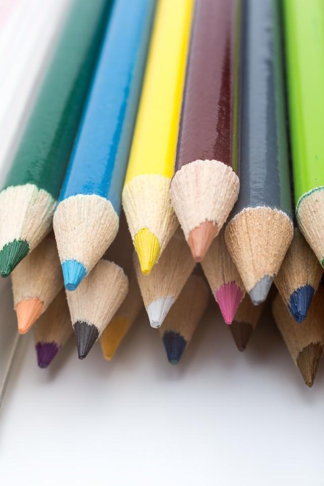 色鉛筆の束の写真