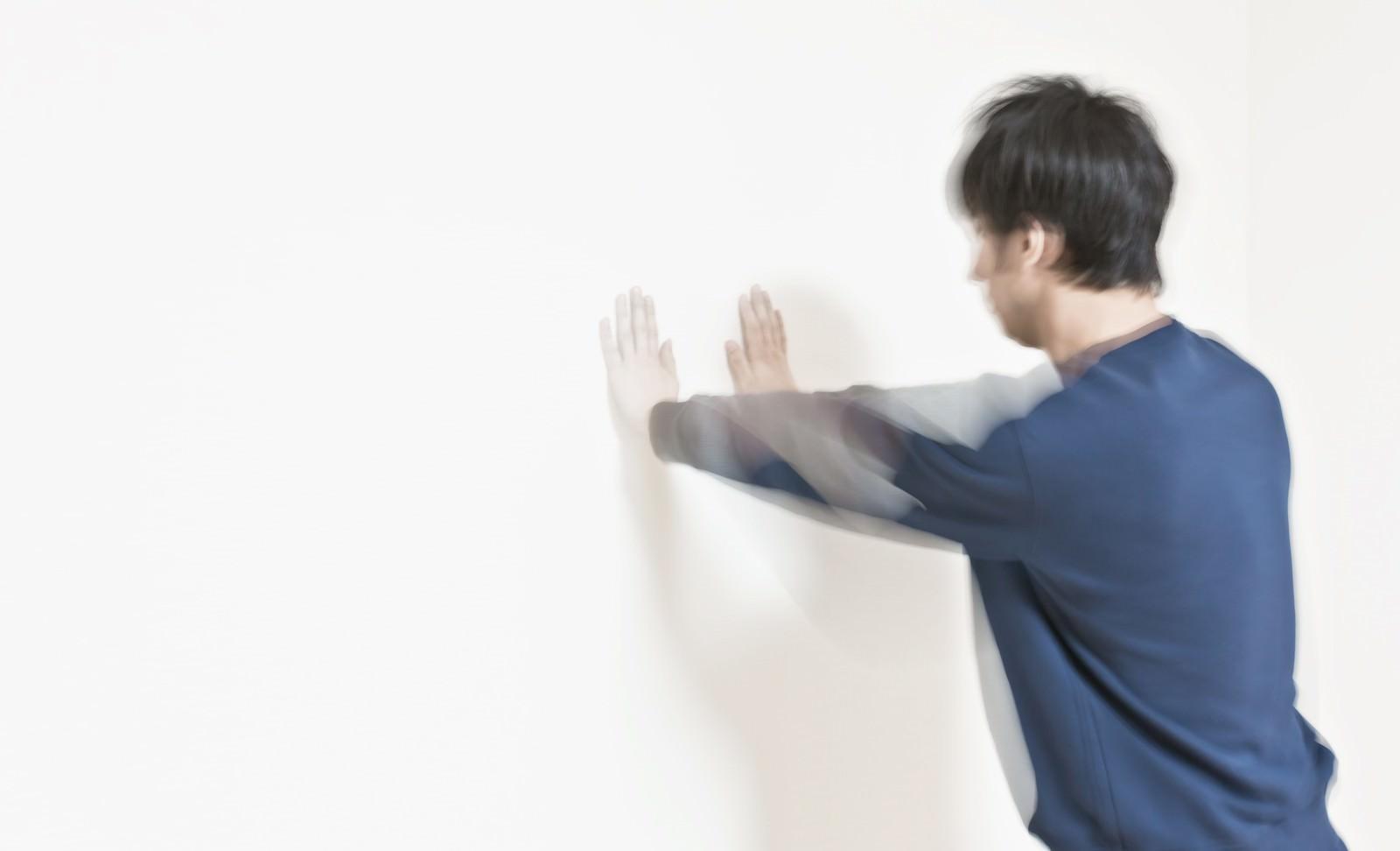 「白虎双掌ドン」の写真[モデル:大川竜弥]
