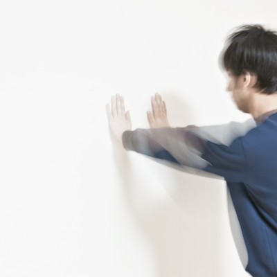 「白虎双掌ドン」の写真素材