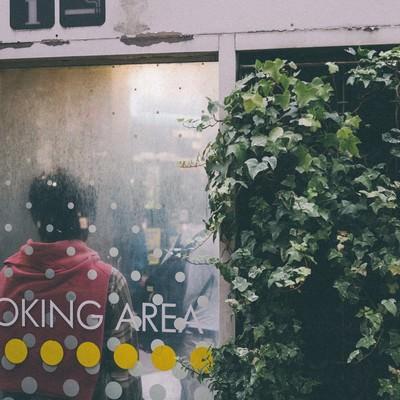 「渋谷スモーキングエリア」の写真素材