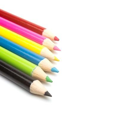 「鮮やかな色鉛筆」の写真素材