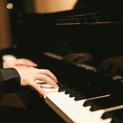 「ピアノを奏でる」の写真素材