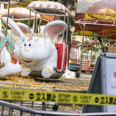 「閉鎖された上野こども遊園地」の写真素材