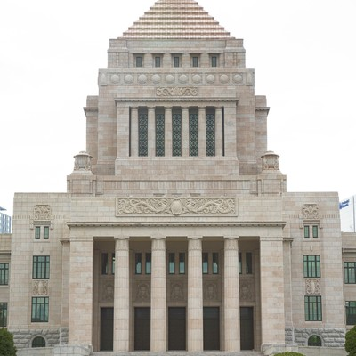 「国会議事堂正面」の写真素材