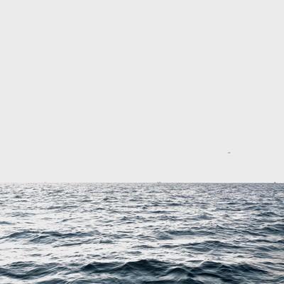 「沖合の海」の写真素材
