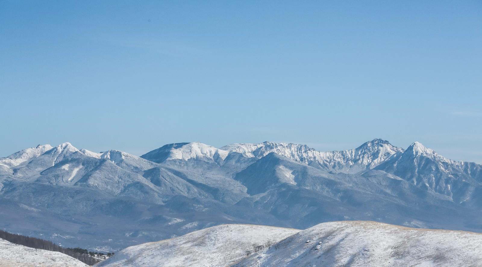 「冬の八ヶ岳連峰(天狗岳)」の写真