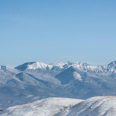 「冬の八ヶ岳連峰(天狗岳)」の写真素材