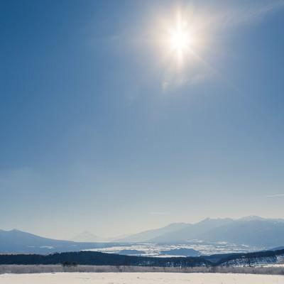 「雪山からの風景」の写真素材