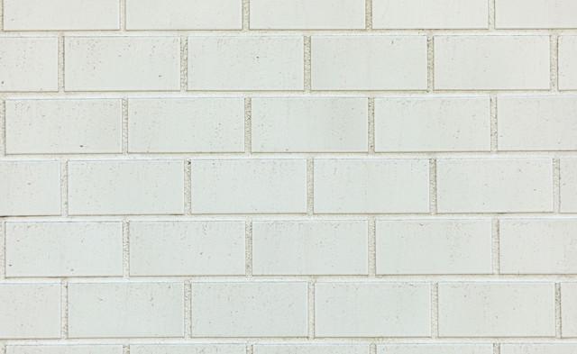 レンガ風の白いタイルの写真