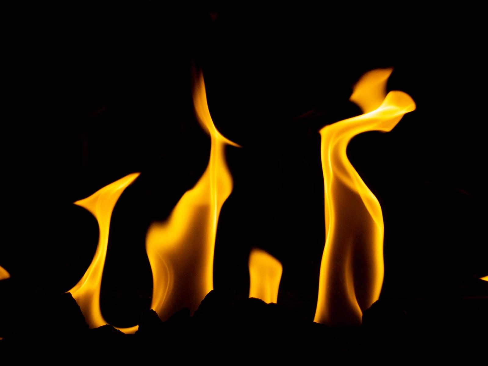 「火がメラメラ燃える様子」の写真