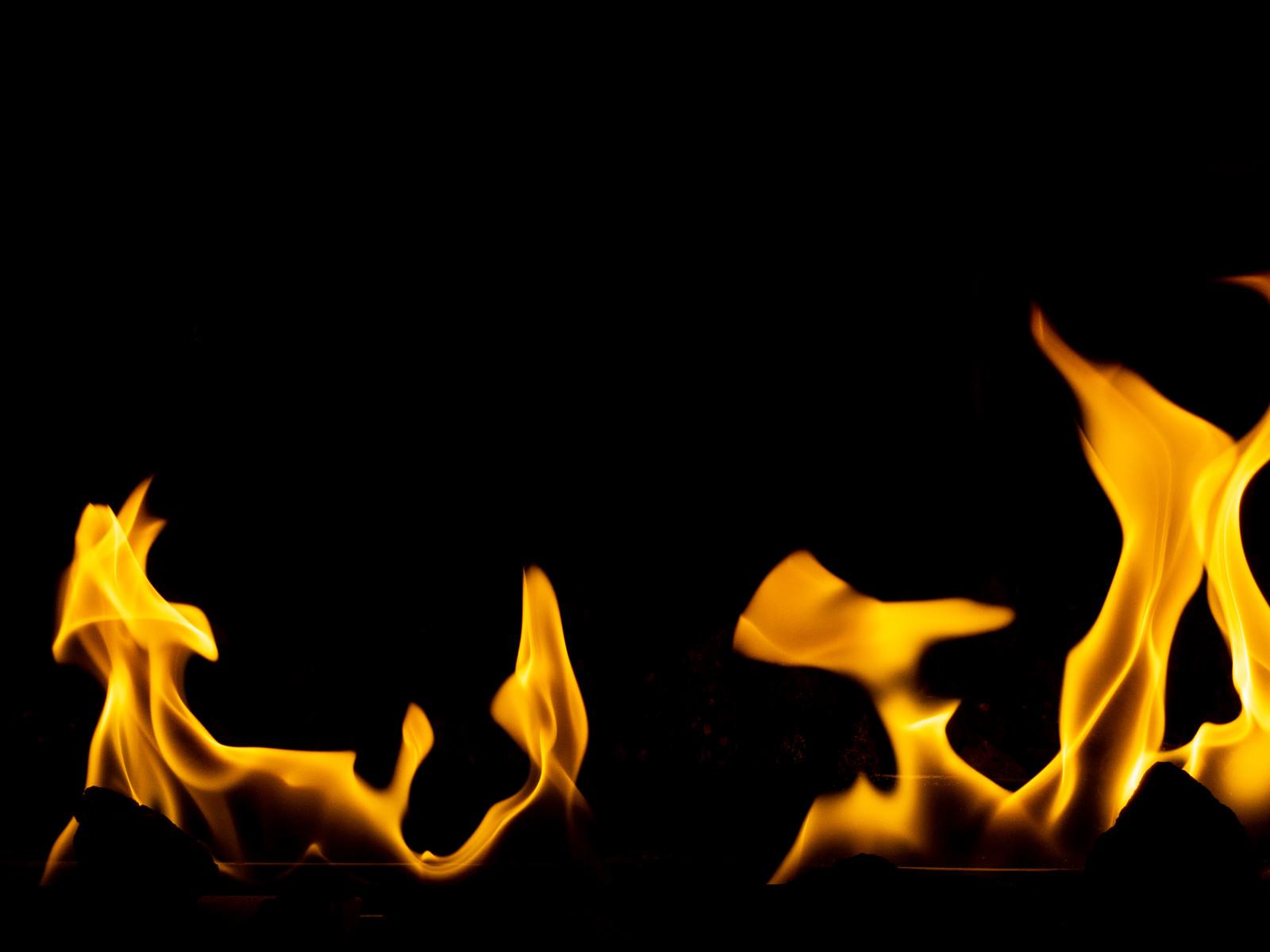 「火が燃えさかる」の写真