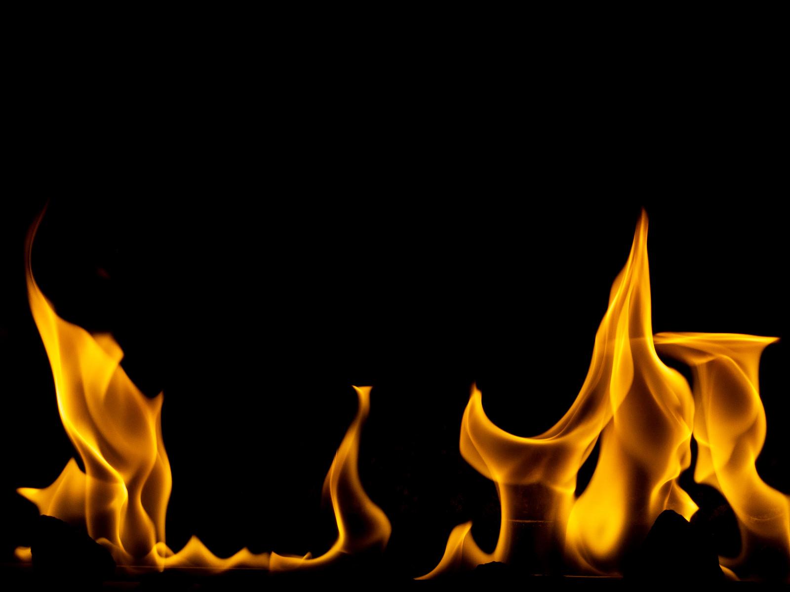 「炎がメラメラと燃える」の写真