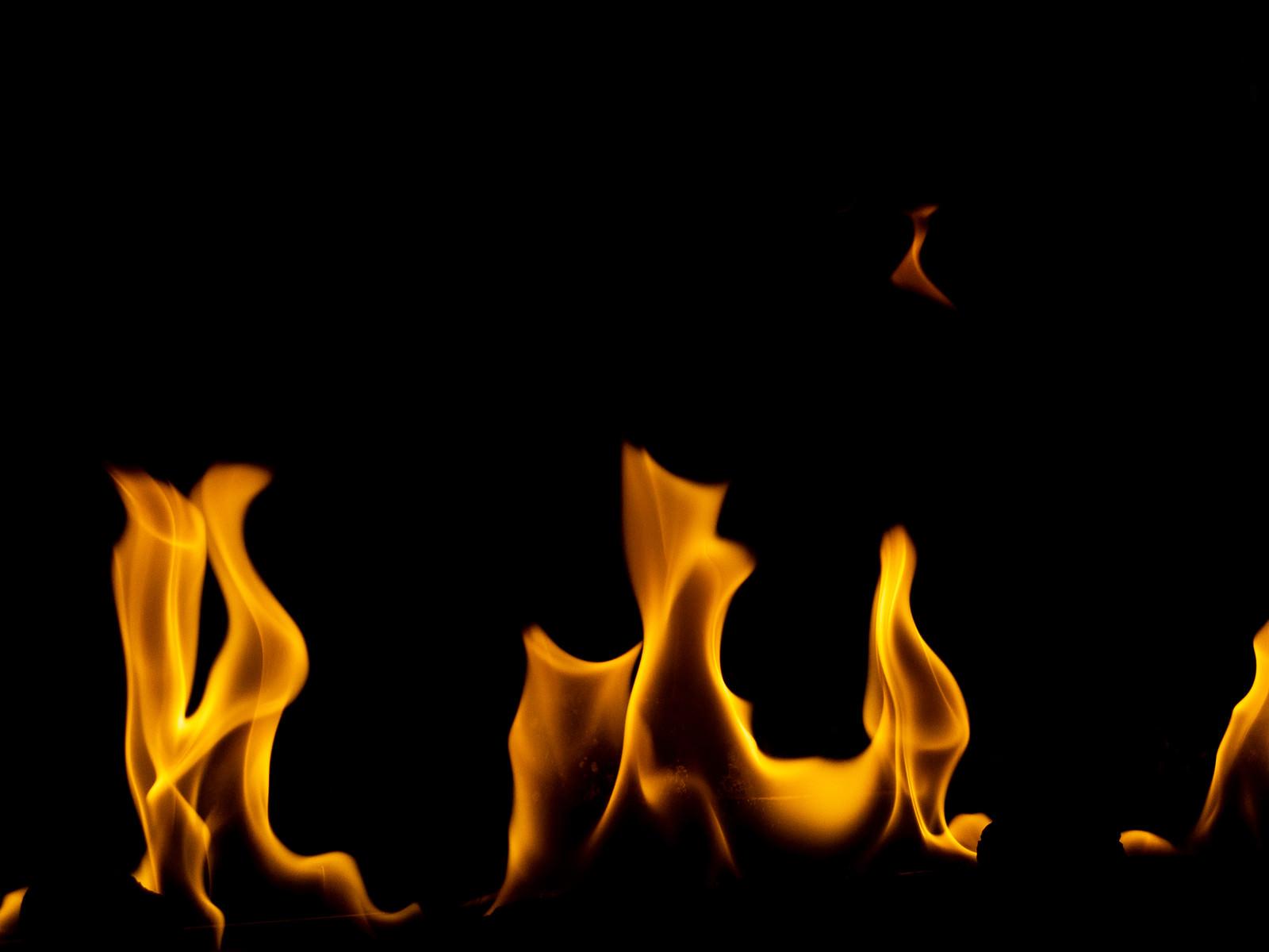 「画面下の炎」の写真