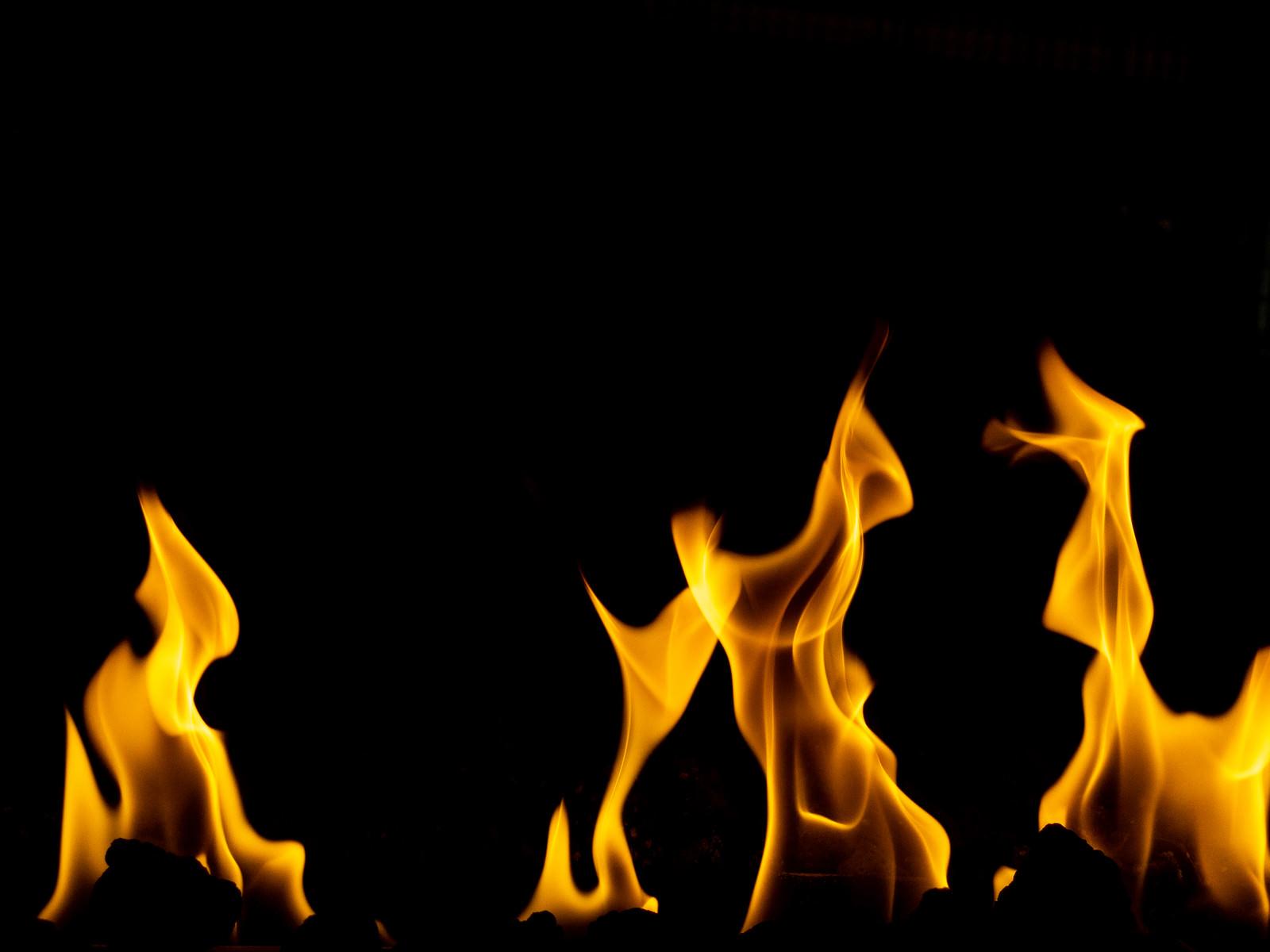 「激しく燃える火」の写真