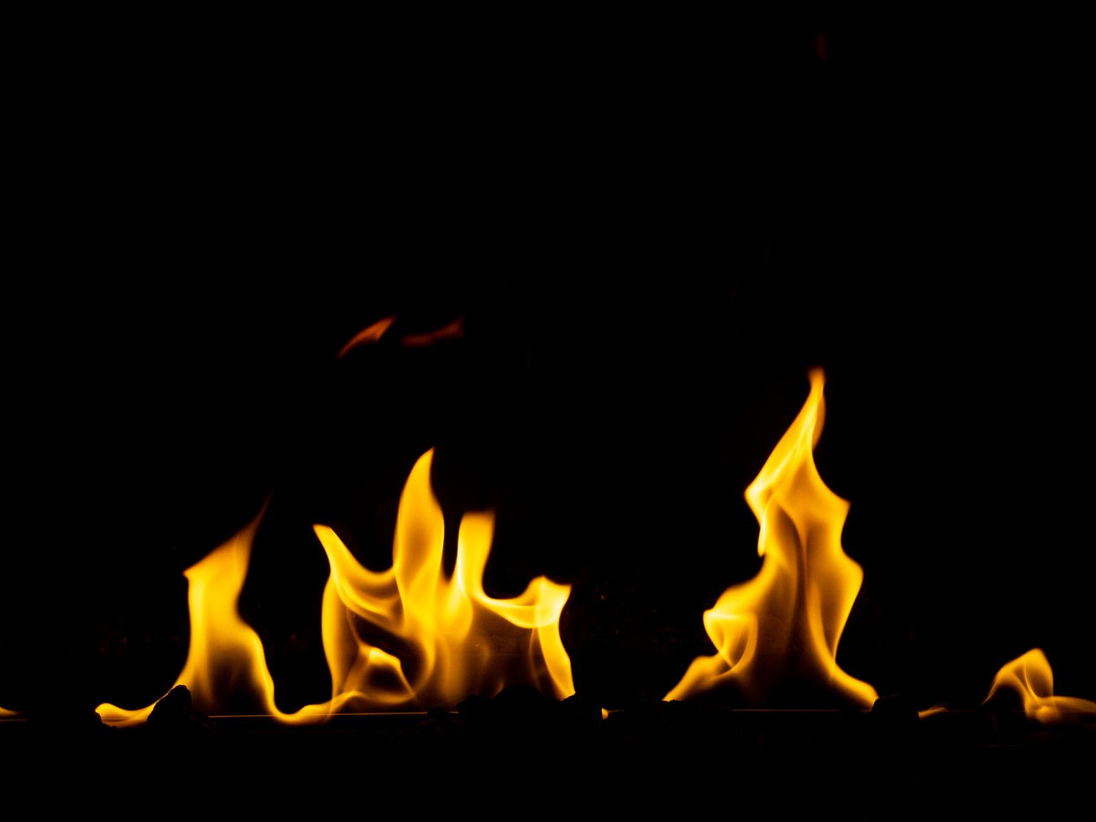 「燃え盛る火」の写真