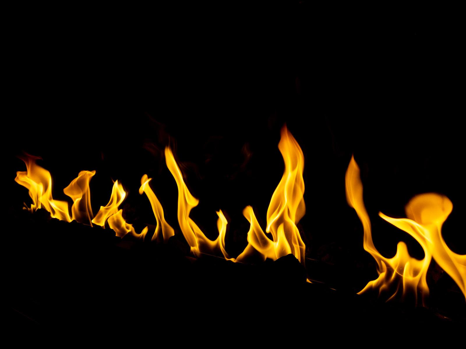 「メラメラと燃える炎」の写真