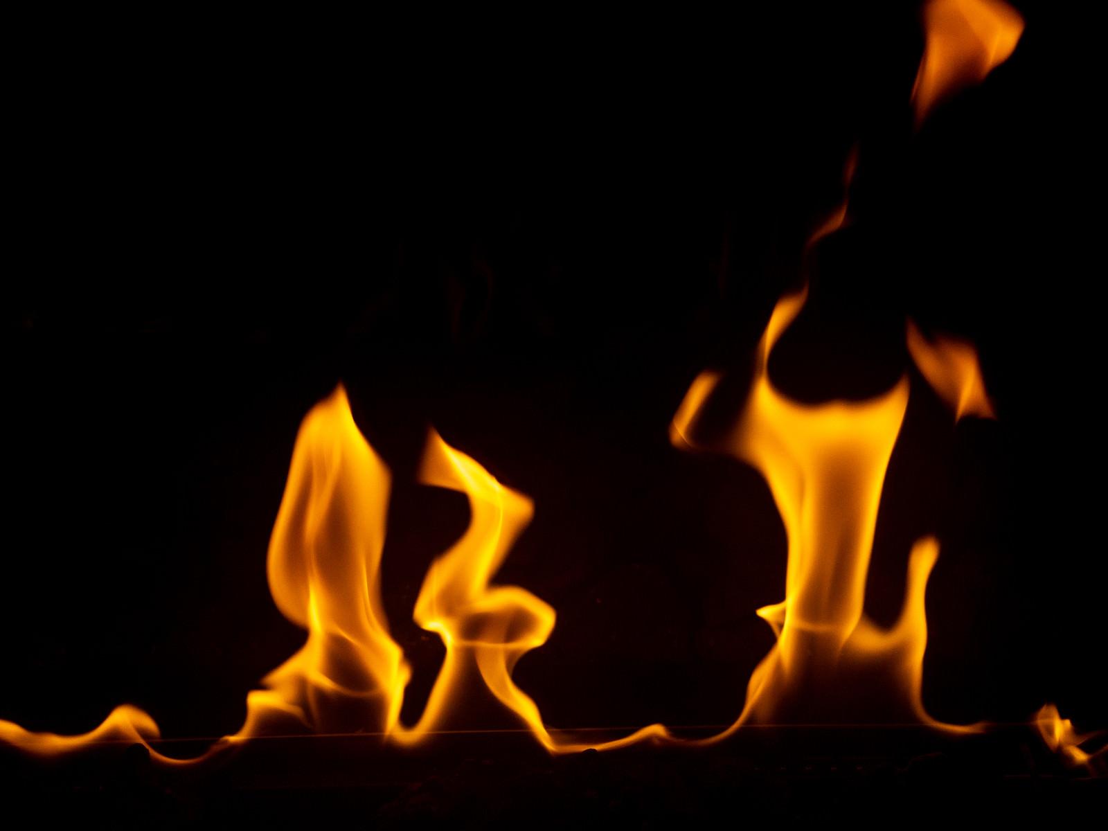 「燃えたぎる炎」の写真