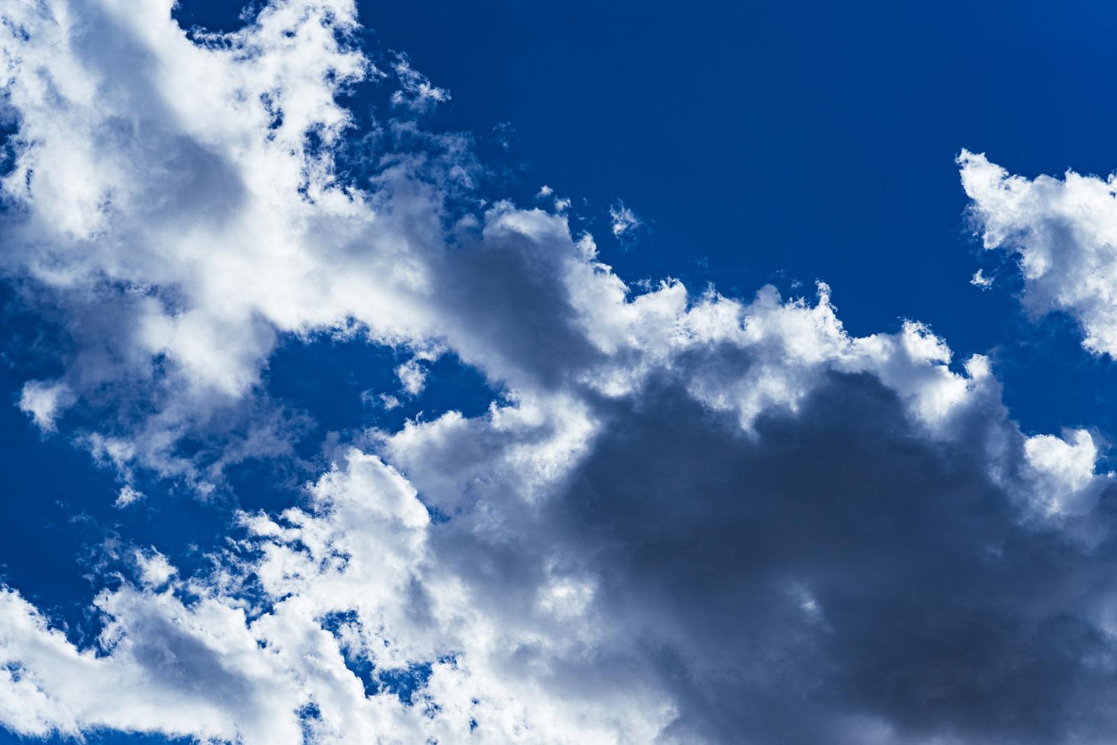「白色の雲の黒い影」の写真