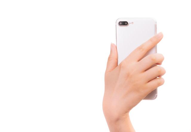 スマートフォンの背面の写真