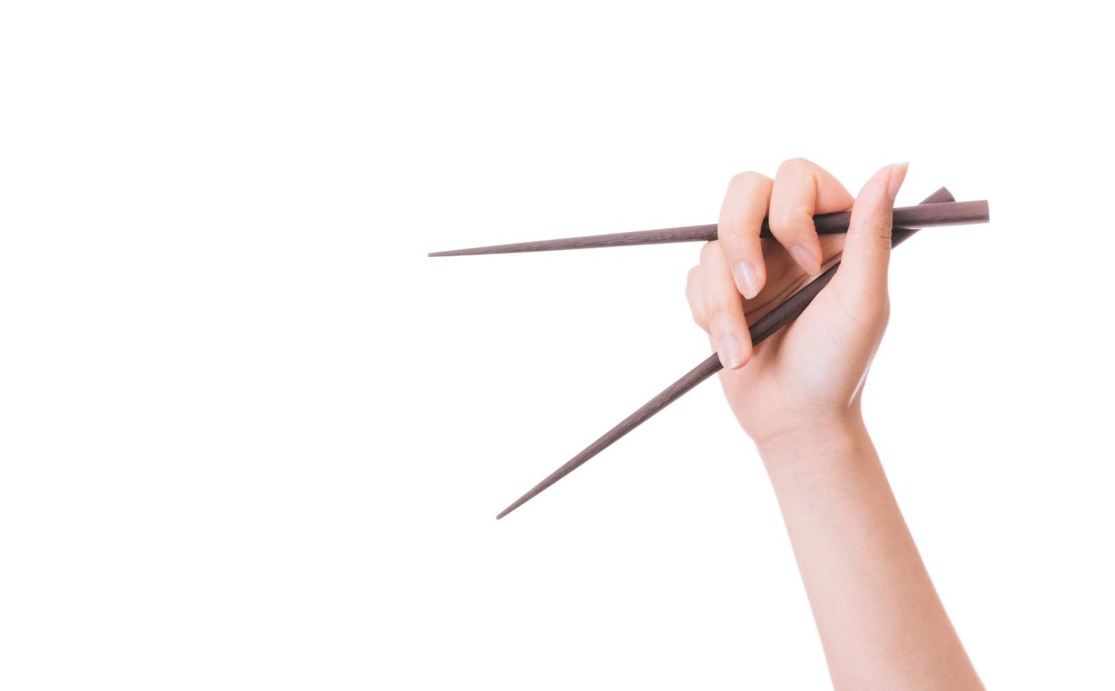 「箸の持ち方が悪い箸の持ち方が悪い」のフリー写真素材を拡大