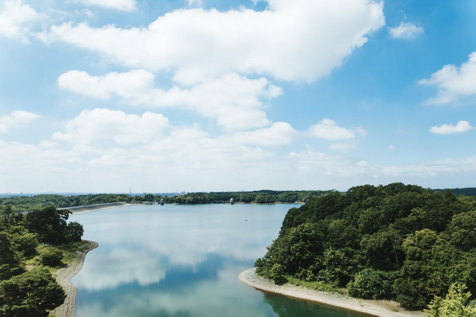 「天気のよい多摩湖」の写真