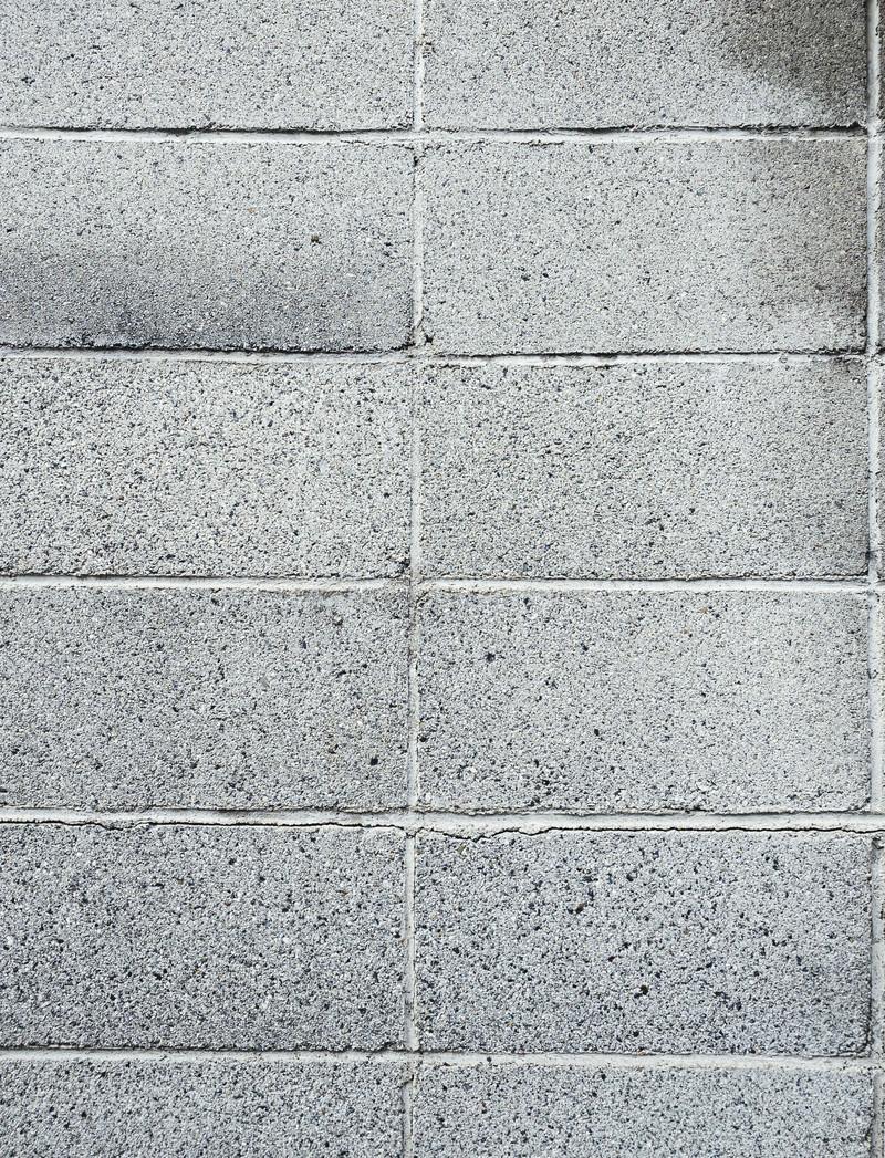 「コンクリートブロックの壁(テクスチャ)」の写真