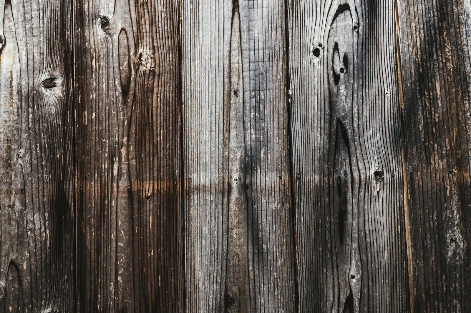 「モノクロ調の木目(テクスチャ)」の写真