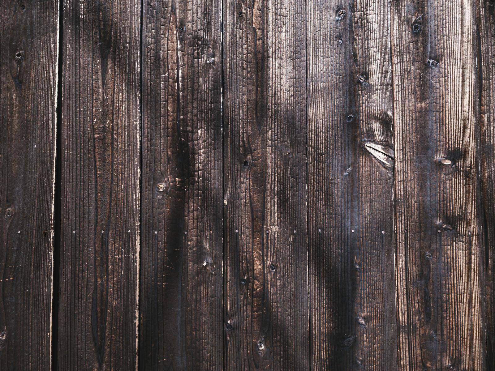 「焼杉板の塀(テクスチャ)」の写真