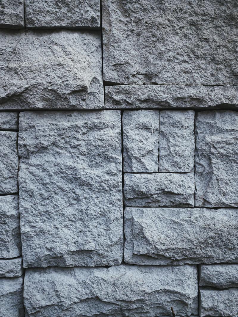 「石積みタイルの壁(テクスチャ)」の写真