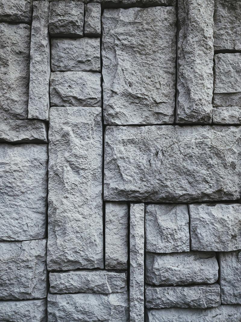「石積み調タイル壁(テクスチャ)」の写真