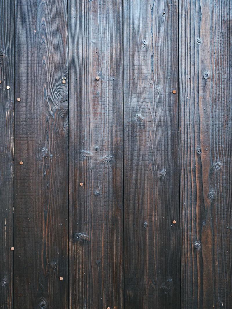 「焼杉板の壁(テクスチャ)」の写真
