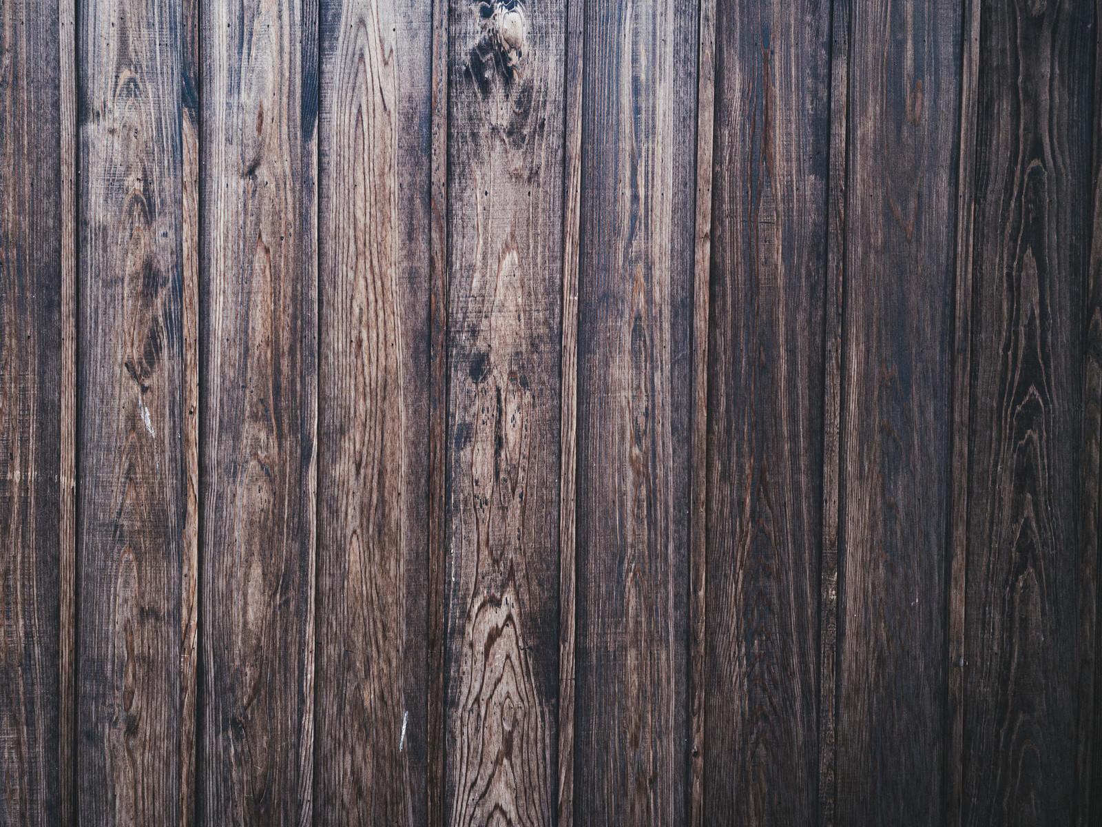 「古い木目調の板壁(テクスチャ)」の写真
