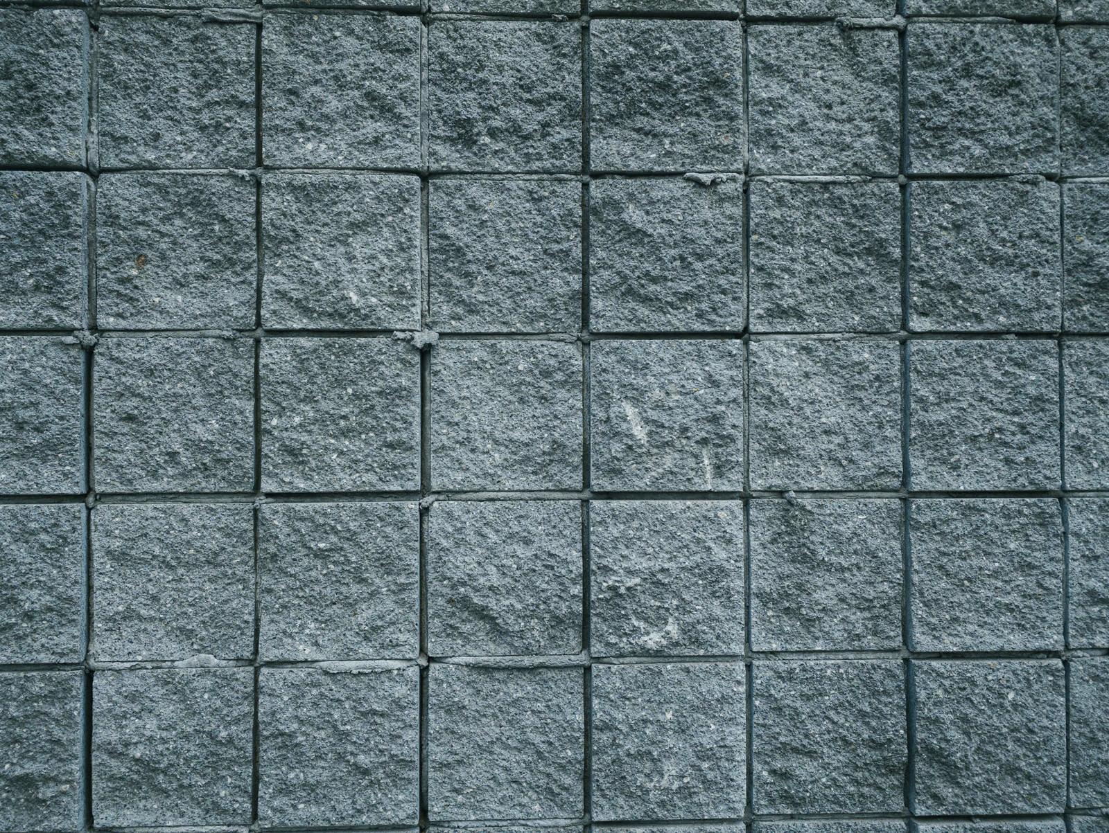 「青みがかかった石タイル(テクスチャ)」の写真