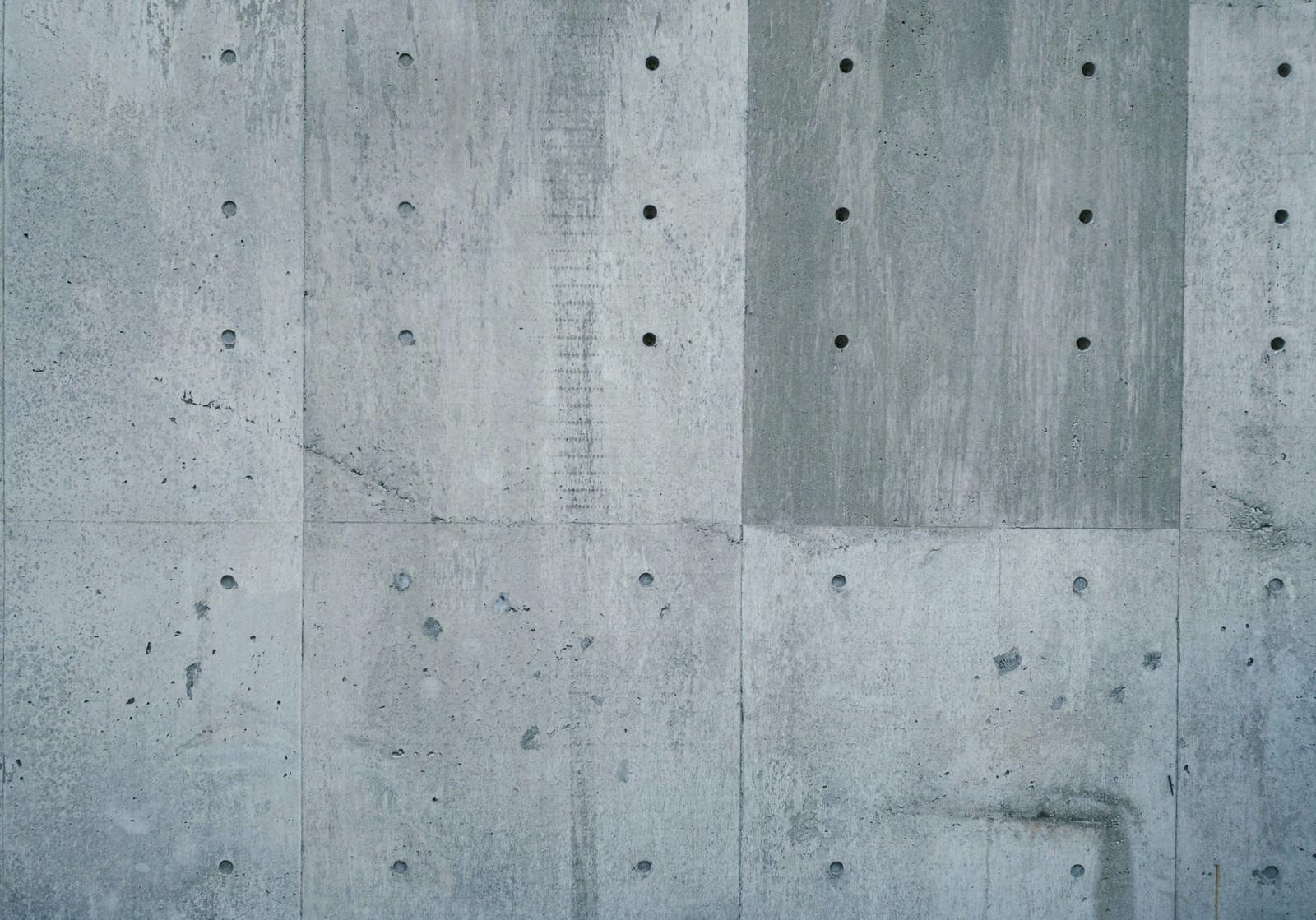 「コンクリートうちっぱなしの壁」の写真