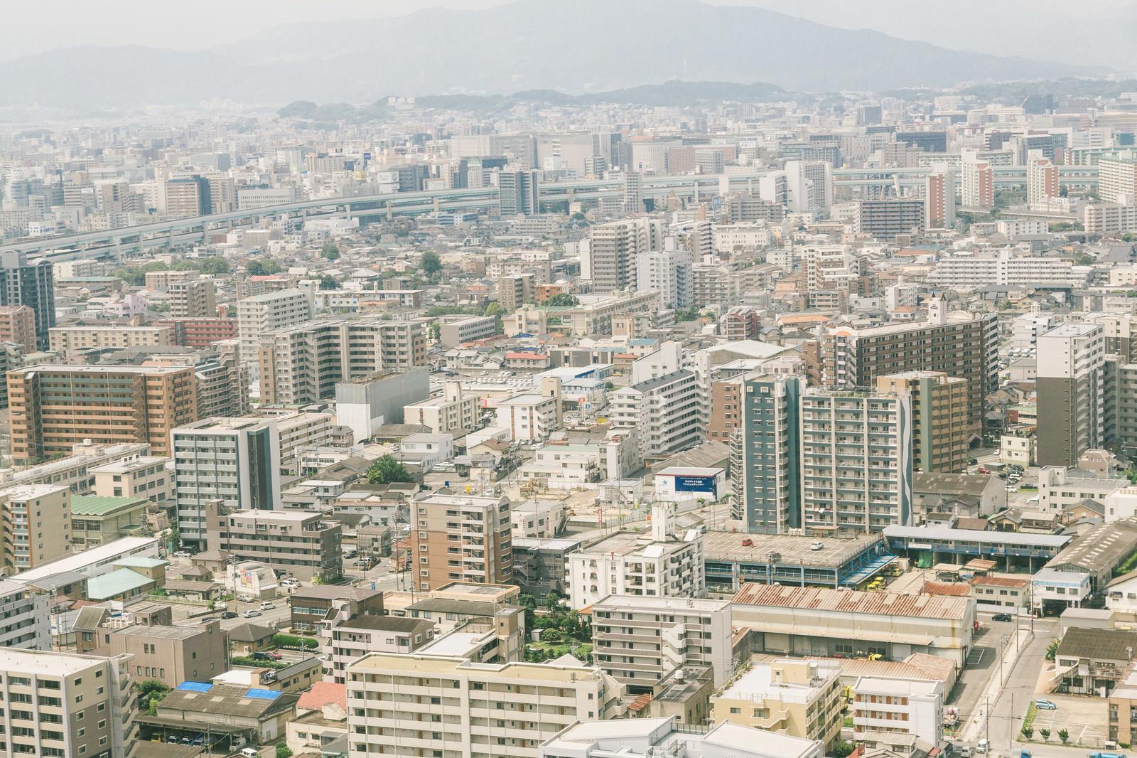 「福岡市内の街並み」の写真