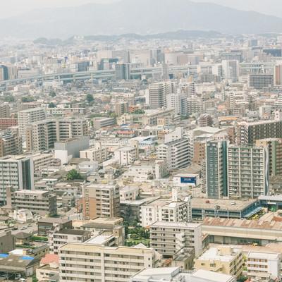 「福岡市内の街並み」の写真素材