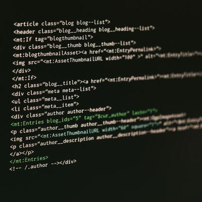 MTタグが使われたコード画面の写真