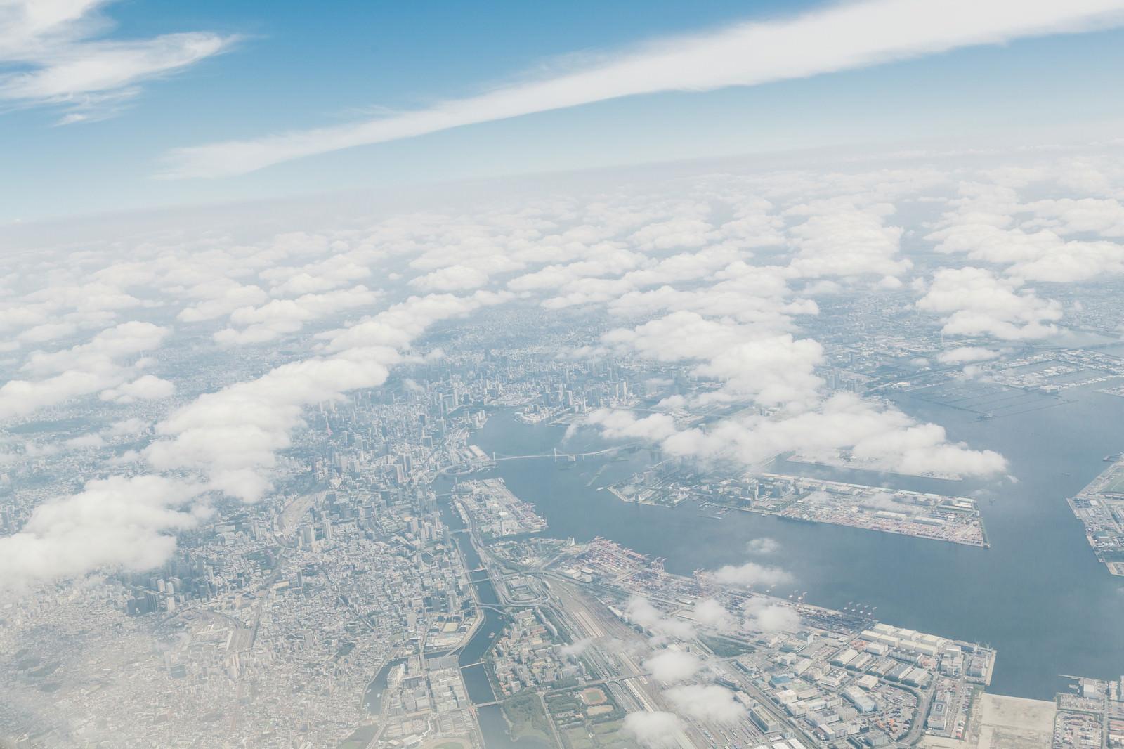 「東京上空からの様子」の写真