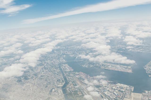 東京上空からの様子の写真