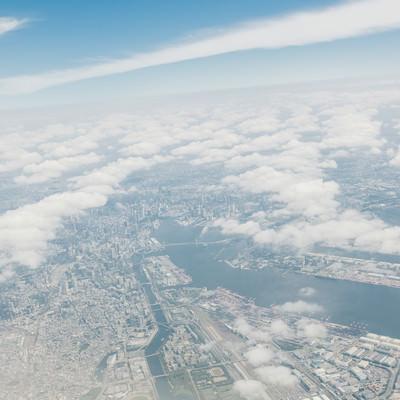 「東京上空からの様子」の写真素材