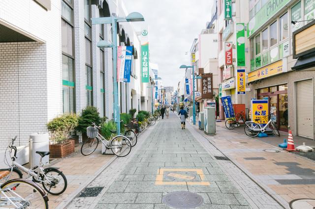 綱島商店街入り口の写真