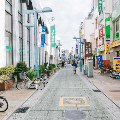 「綱島商店街入り口」の写真素材