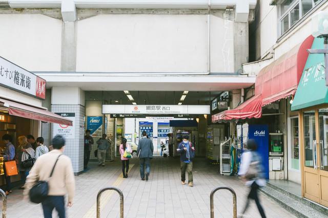 綱島駅西口の様子の写真